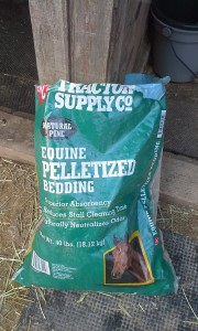 These are wooden bedding pellets, can be purchased at TSC or Bonsalls. Used for horse stalls and run in sheds.